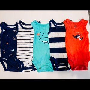 Newborn Boy Tank Top Onesies